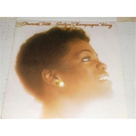 """Evelyn """"Champagne"""" King - Smooth Talk 2nd Cover Gold PROMO LP"""