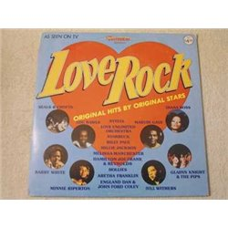 Love Rock - Original Hits By Original Stars LP Vinyl Record