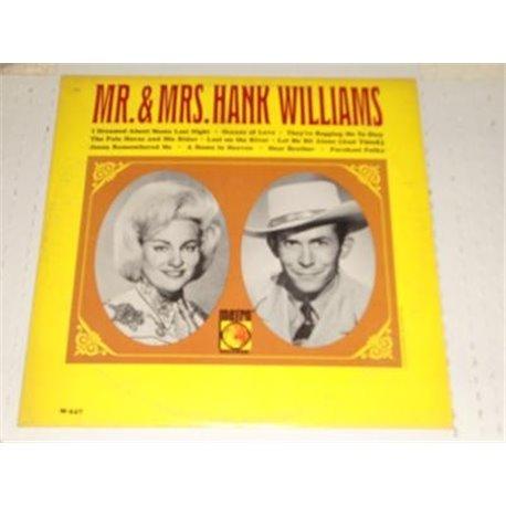 Hank Williams - Mr and Mrs Hank Williams Vinyl LP For Sale