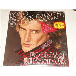 Rod Stewart - Foolish Behaviour With Poster LPVinyl Record For Sale