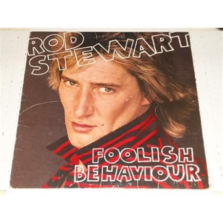 Rod Stewart - Foolish Behaviour With Poster LP For Sale