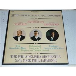 Ormandy Entremont Bernstein - The Great Romantic Piano Concertos 3 LP Box Set For Sale