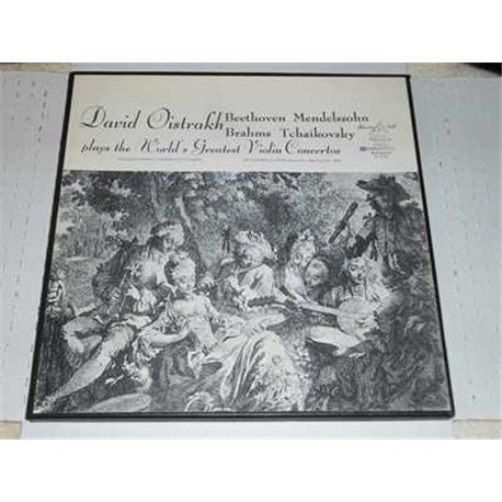 David Oistrakh - Plays The Worlds Greatest Violin Concertos Vinyl LP Set For Sale