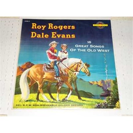 Roy Rodgers and Dale Evans - 16 Great Songs Of The Old West Vinyl LP For Sale