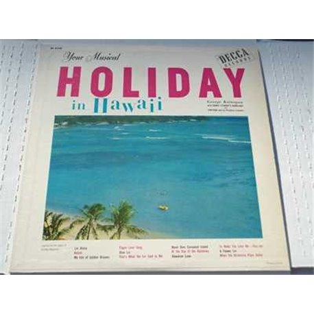 George Kainapau - Your Musical Holiday In Hawaii Vinyl LP For Sale