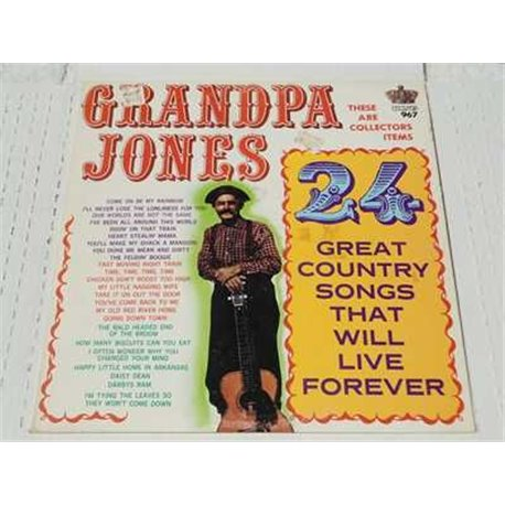 Grandpa Jones - 24 Great Country Songs Vinyl Lp For Sale