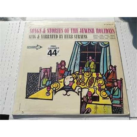 Songs and Stories Of The Jewish Holidays - Herb Strauss Vinyl LP Sale