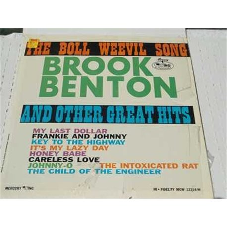Brook Benton - The Boll Weevil Song Vinyl LP Record For Sale