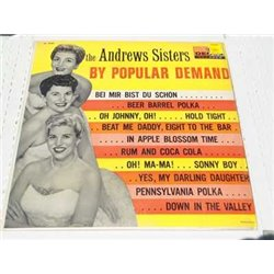 The Andrews Sisters - By Popular Demand RARE Vinyl LP For Sale