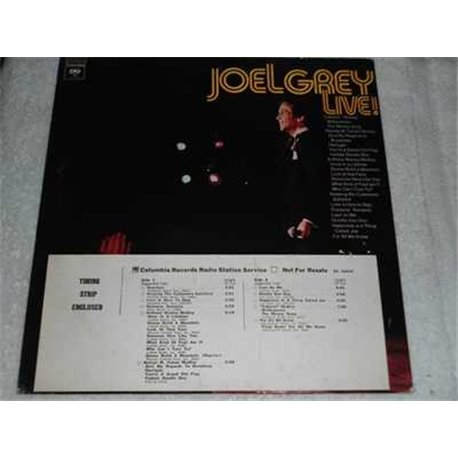 Joel Grey - Live ! Vinyl LP Record For Sale