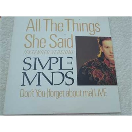 "Simple Minds - All The Things She Said 12"" Single Vinyl 45rpm For Sale"
