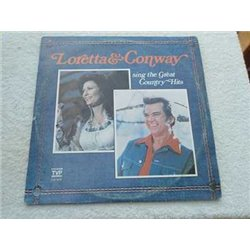 Loretta & Conway - Sing The Great Country Hits 2x LP For Sale
