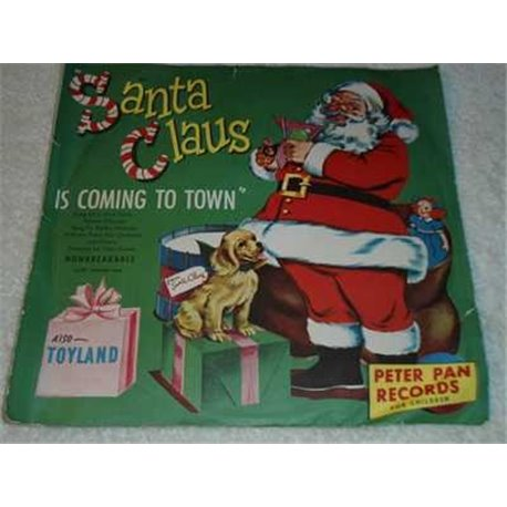 Santa Claus Is Coming To Town Vintage 78rpm Record For Sale