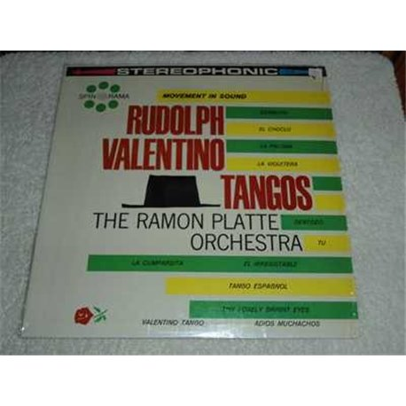 Rudolph Valentino Tangos - Ramon Platte Orchestra Vinyl Record For Sale