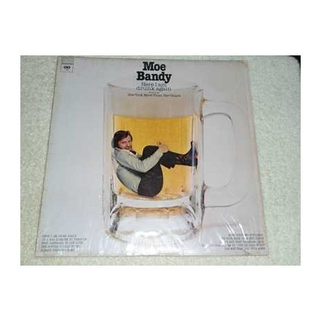 Moe Bandy - Here I Am Drunk Again Vinyl LP Record For Sale