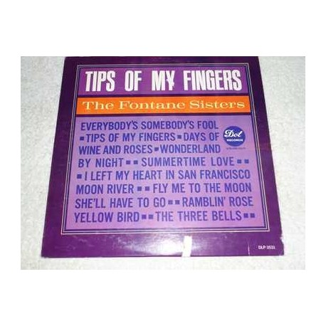 The Fontane Sisters - Tips Of My Fingers Vinyl LP Record For Sale