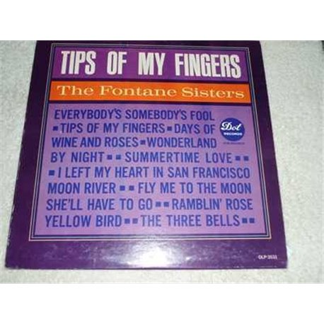The Fontane Sisters - Tips Of My Fingers RARE Vinyl LP Record For Sale