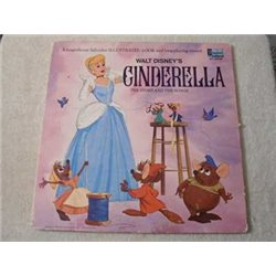 "Walt Disney's Cinderella - Book And Record 12"" Vinyl LP Record For Sale"