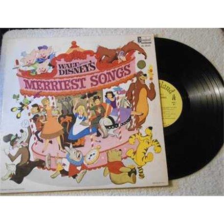 Walt Disneys Merriest Songs Vinyl LP Record For Sale