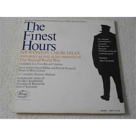 """The Finest Hours - Sir Winston Churchill Vinyl LP Record For Sale - With BONUS 10"""""""