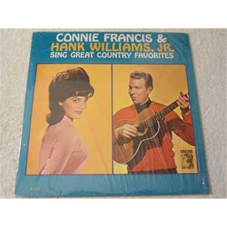 Connie Francis & Hank Williams Jr. - Sing Great Country Hits Vinyl LP Record For Sale