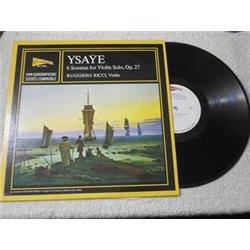 Ruggiero Ricci - Ysaye - 6 Sonatas For Violin Solo, Op. 27 LP Vinyl Record For Sale