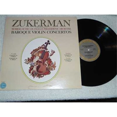 Pinchas Zukerman - Baroque Violin Concertos LP Vinyl Record For Sale