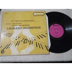 Leonard Bernstein - Ravel Copland Bernstein Piano LP Vinyl Record For Sale