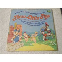 Walt Disney - Three Little Pigs Storybook LP Vinyl Record For Sale