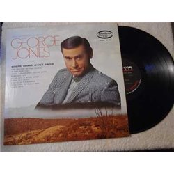 George Jones - Where Grass Won't Grow LP Vinyl Record For Sale