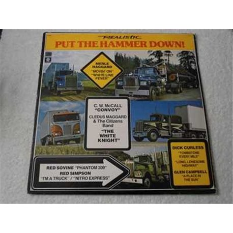 Put The Hammer Down - Truck Driving Music LP Vinyl Record For Sale