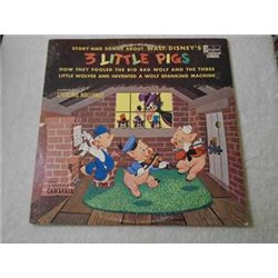 Walt Disney's - Three Little Pigs LP Vinyl Record For Sale