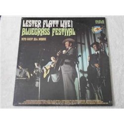 Lester Flatt Live! - Bluegrass Festival LP Vinyl Record For Sale