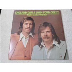 England Dan & John Ford Coley - Nights Are Forever LP Vinyl Record For Sale