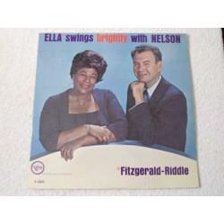 Ella Fitzgerald - Ella Swings Brightly With Nelson LP Vinyl Record For Sale