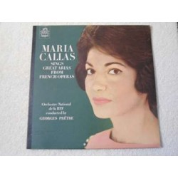 Maria Callas - Sings Great Arias From French Operas LP Vinyl Record For Sale